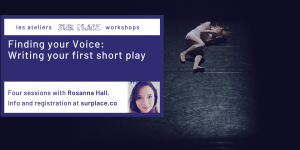 Finding your Voice: Writing your first short play @ Sur Place Media | Montréal | QC | CA